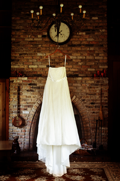 photograph of wedding dress