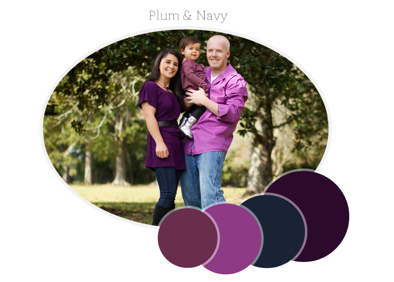 family photo session wardrobe color palette