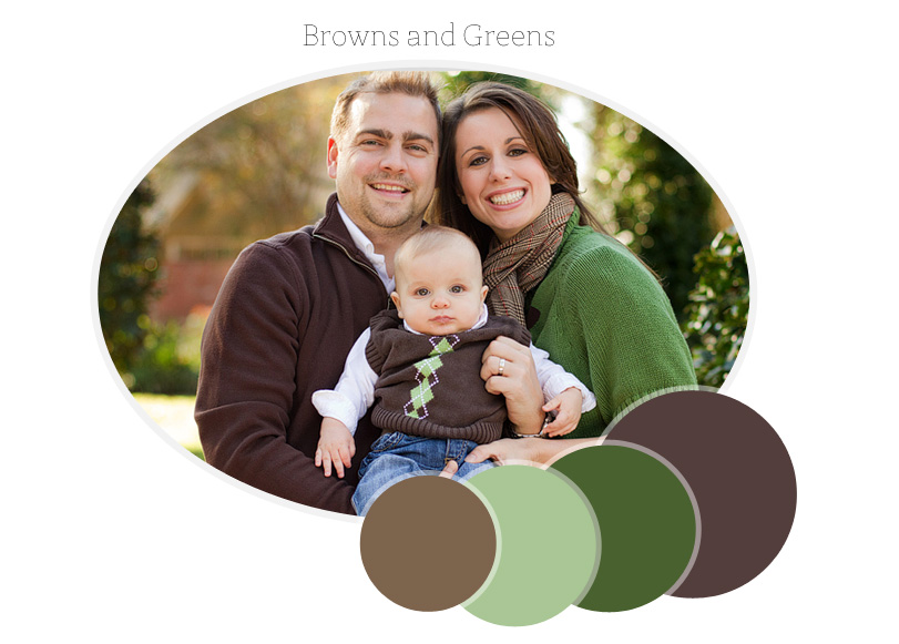 family photo session color palette