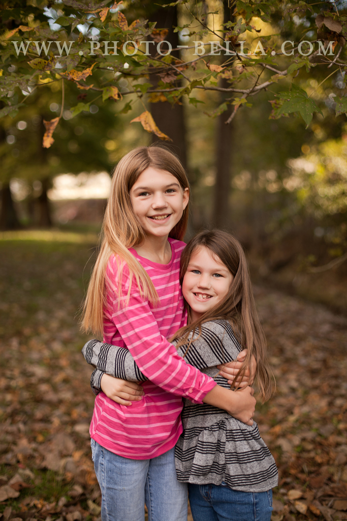 photograph of siblings in fall